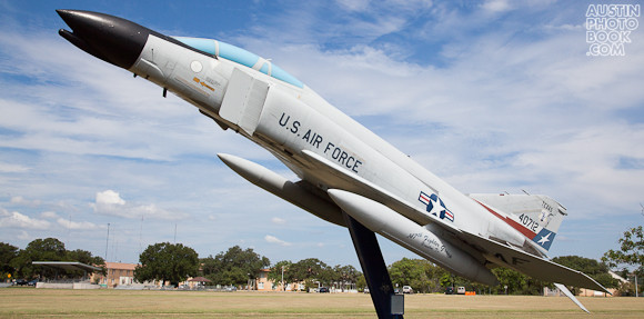 F4 Phantom Fighter Jet at Camp Mabry - Texas Military Forces Museum