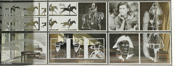 Harry Ransom Center picture window mural - Austin, Texas