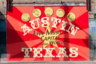 6th street live music capital of the world mural - Downtown Austin