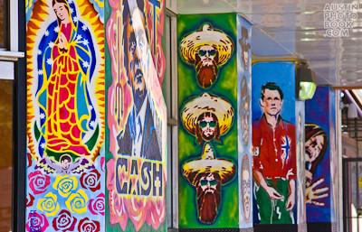 "Murals on Austin Drag by Fredrico Archuleta AKA ""Fe De Rico"""