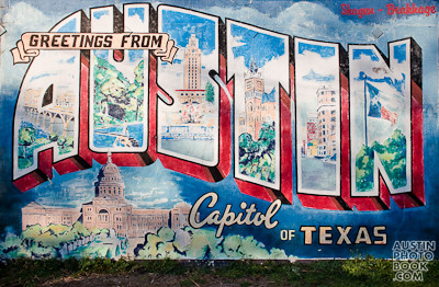 Austin photo book photos of austin texas blog archive for Austin mural wall