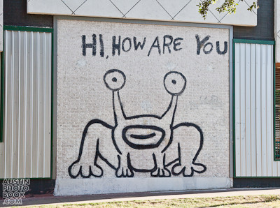 No 6 i love you so much and hi how are you murals for Daniel johnston mural