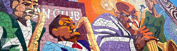 Rhapsody - East Austin Mosaic Jazz Mural