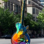 Austin Art Guitar - North Congress Ave - Downtown Austin