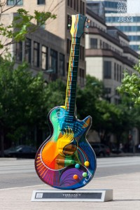 Austin Guitartown art guitars 2011 2 200x300 Where are the Gibson Guitartown Austin Art Guitars Now?