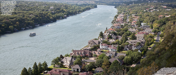 Lake Austin view from Mount Bonnell - where the rich in Austin live