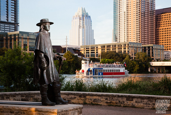 stevie ray vaughan Statue Town Lake Austin - stevie ray vaughn