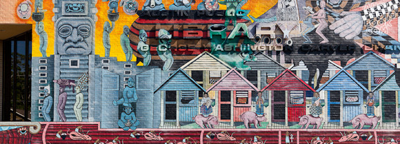 george washington carver library mural - East Austin Texas